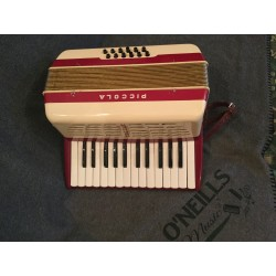 Hohner Piccola 26 key 12 bass accordion used