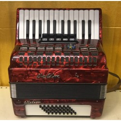 Weltmeister 26 key 40 bass compact accordion used