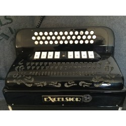 Excelsior Midi 4 Voice 3 Row B/C/C sharp Accordion 37/80 bass Used