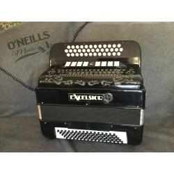 Excelsior Midi 4 Voice 3 Row B/C/C sharp Accordion 37/80 bass Used
