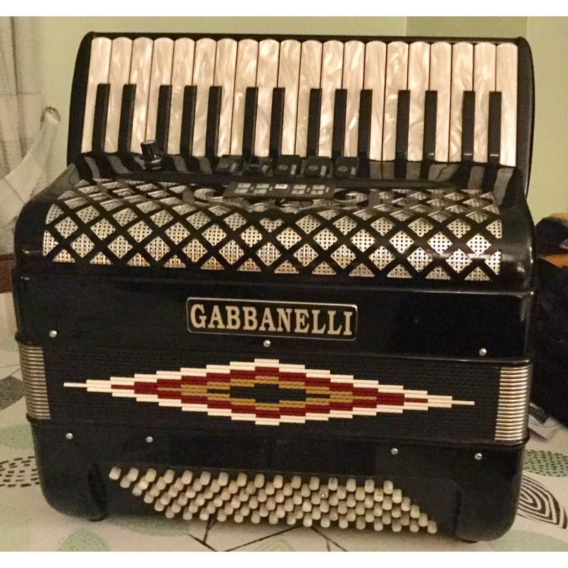Gabbanelli Midi Piano Accordion 3 voice 34/96 Musette Used