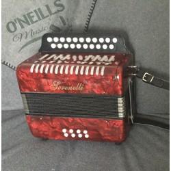 Serenelli B/C 2 voice Irish Style Button Accordion Used
