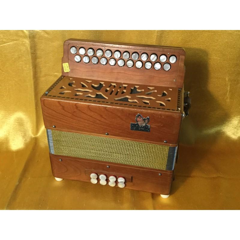 Saltarelle Cs/D Irish Bouebe Button Accordion Used