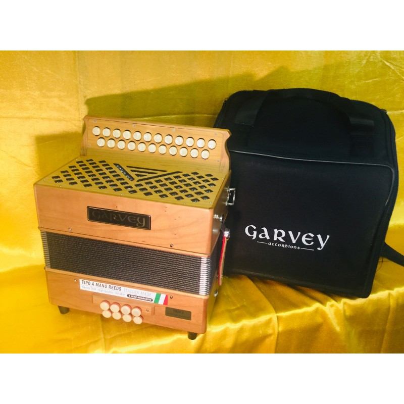 Garvey 23 Button TAM 2 Wooden 2 Voice B/C Irish Style Accordion