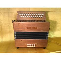 Collinor B/C 23 Button Wooden 2 Voice Irish Style Accordion Used