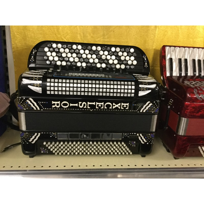 Excelsior Series 3 Midivox 5 row Chromatic Accordion 4 voice 92/120 Musette Used
