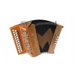 New Saltarelle B/C Awen Irish Style Wooden 2 voice 2 Row Irish dry tuned Accordion 23/8