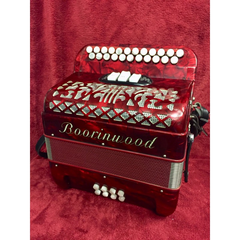 Boorinwood Italian 4 voice 2 Row acordion B/C 23/8 Used