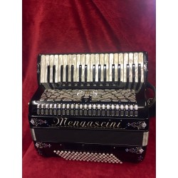 Mengascini Midi Piano Accordion 4 voice 37/96 Musette Used
