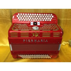 Piermaria 4 Row C Scale Chromatic accordion 58/80 bass Used