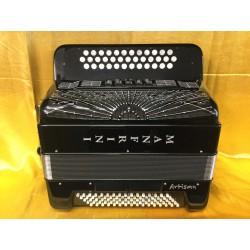 Manfrini Artisan 3 Row Accordion B/C/Cs with full Musictech midi system and Mics Used