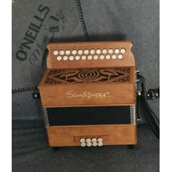 Sandpiper B/C 23 Button Wooden 2 Voice Irish Style Accordion Used
