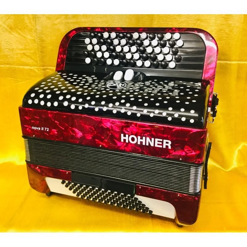 Hohner Nova II C Scale Lightweight 72 bass 5 Row Used