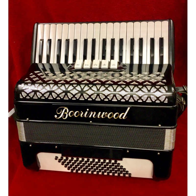 Boorinwood Professional 34 Key 72 Bass Italian Accordion Used