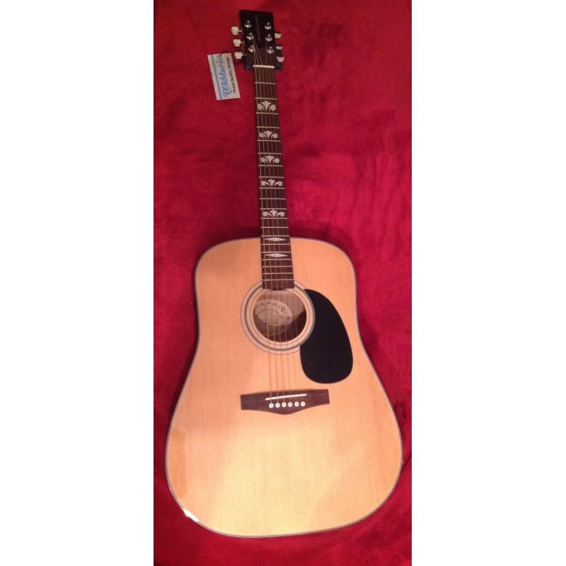 Boorinwood FAW812 Dreadnought Acoustic Guitar Natural