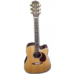 Boorinwood SDC130CE Dreadnought Acoustic Guitar Natural