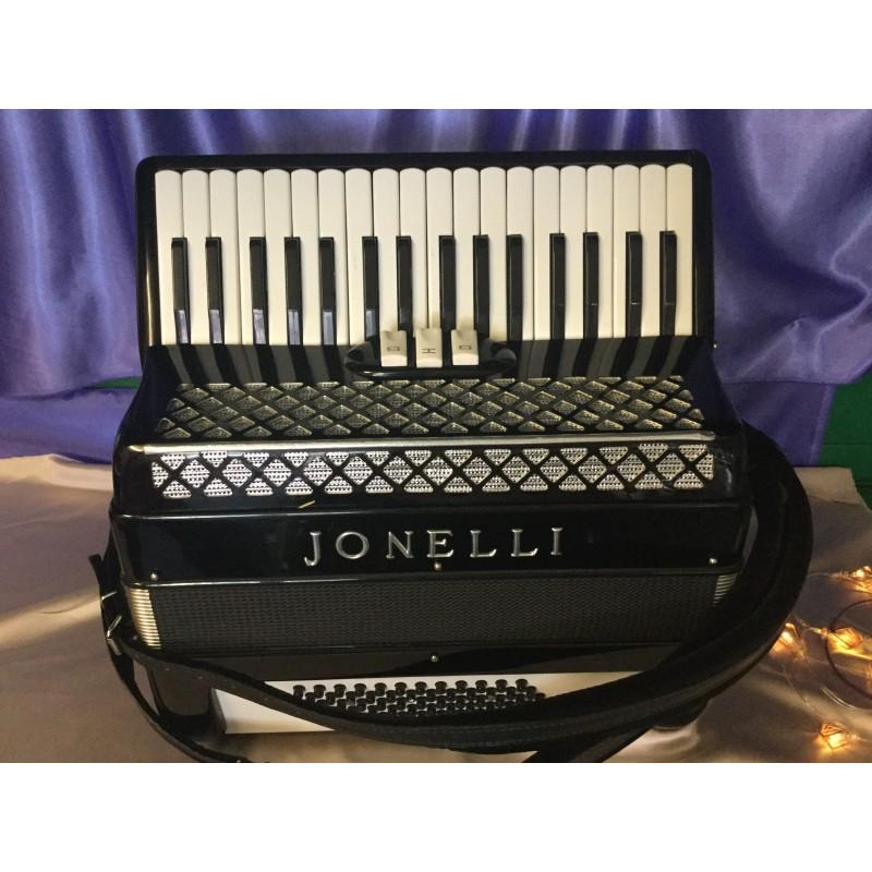 Jonelli Professional 34 Key 72 Bass Lightweight 2 Voice Italian Accordion Used