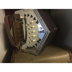 Wheatstone Mayfair Anglo Concertina G/C 30 button Metal Ends Used