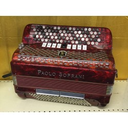 Paolo Soprani 5 Row Chromatic accordion 87/120 bass Used