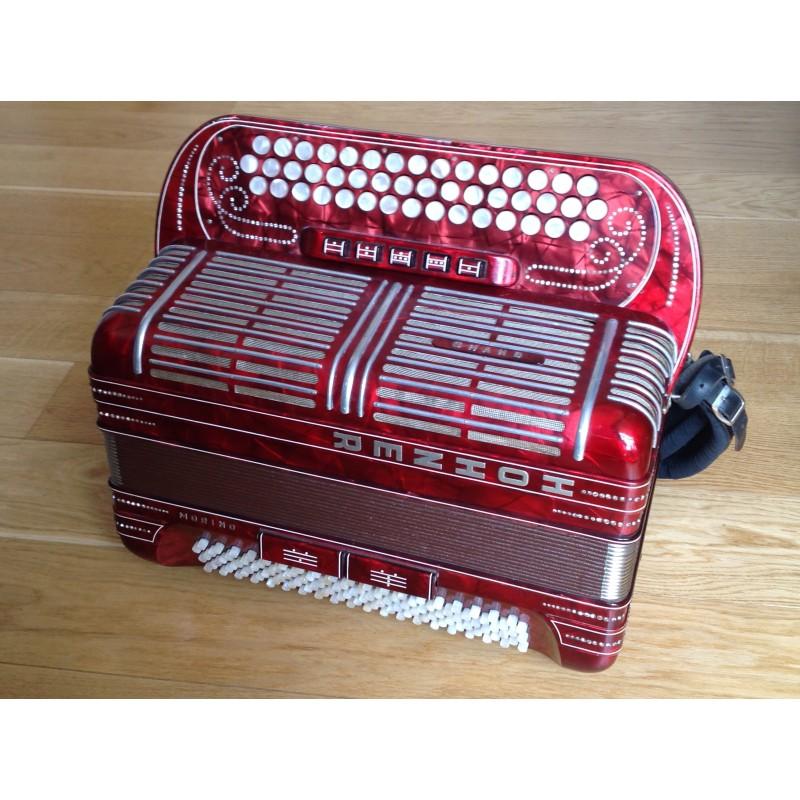Hohner Shand Morino 3 Row B/C/C sharp Accordion 46 button 120 bass Used