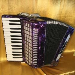 Primo Purple 30 key 24 bass compact accordion used