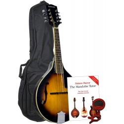 Ashbury A Style Mandolin, S/B Pack