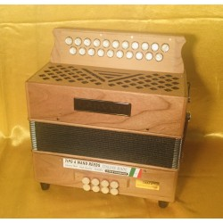 Garvey 21 Button TAM 2 Wooden 2 Voice B/C Irish Style Accordion