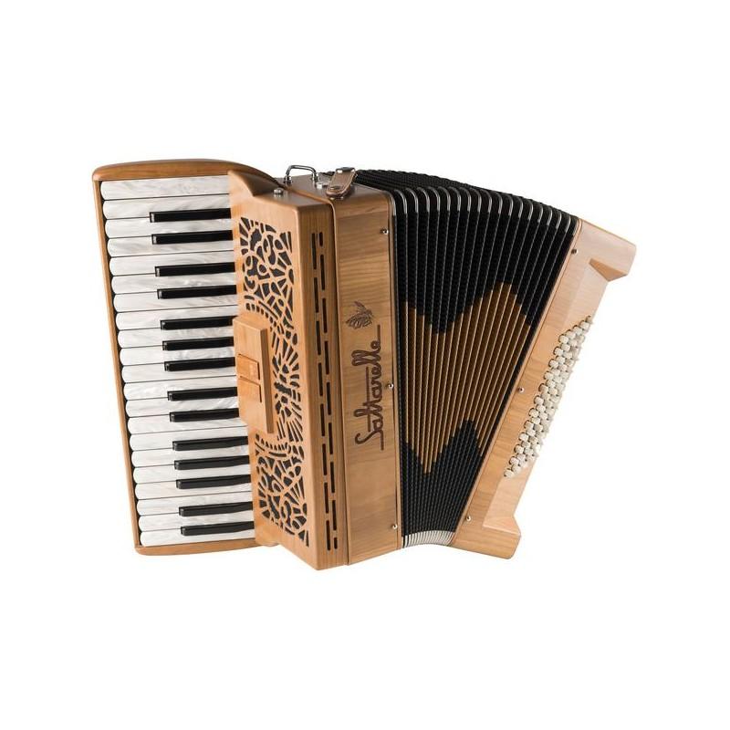 New Saltarelle Clifden Piano Accordion 60 bass 2 voice