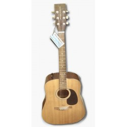 Boorinwood FAW802E Dreadnought Semi Acoustic Guitar Natural