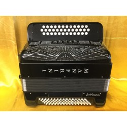 Manfrini Artisan 3 Row Accordion B/C/Cs with full Musictech midi system and Mics Used
