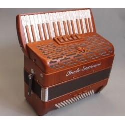 New Upgraded Paolo Soprani Folk Musette 34 key 96 Bass 3 Voice Piano Accordion