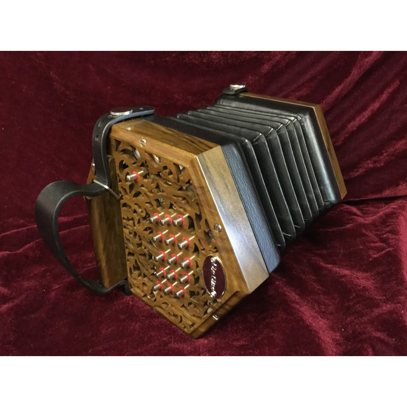 New Clare Anglo Concertina G/C 30 button wooden ends