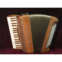 New Paolo Soprani Folk Upgraded Reeds Musette 34 key 96 Bass 3 Voice Piano Accordion