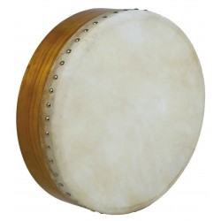 "Glenluce 14"" Bodhran, natural Solid 3.5"" rim Natural stain Mulberry wood"