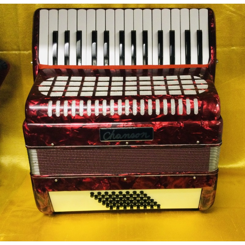 Chanson 30 key 48 bass accordion used