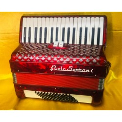 Paolo Soprani Italian 34 Key 72 Bass 2 Voice Piano Accordion Used