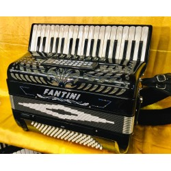 Fantini 96 Bass midi 4 voice Accordion 37 Key With Name decor Used