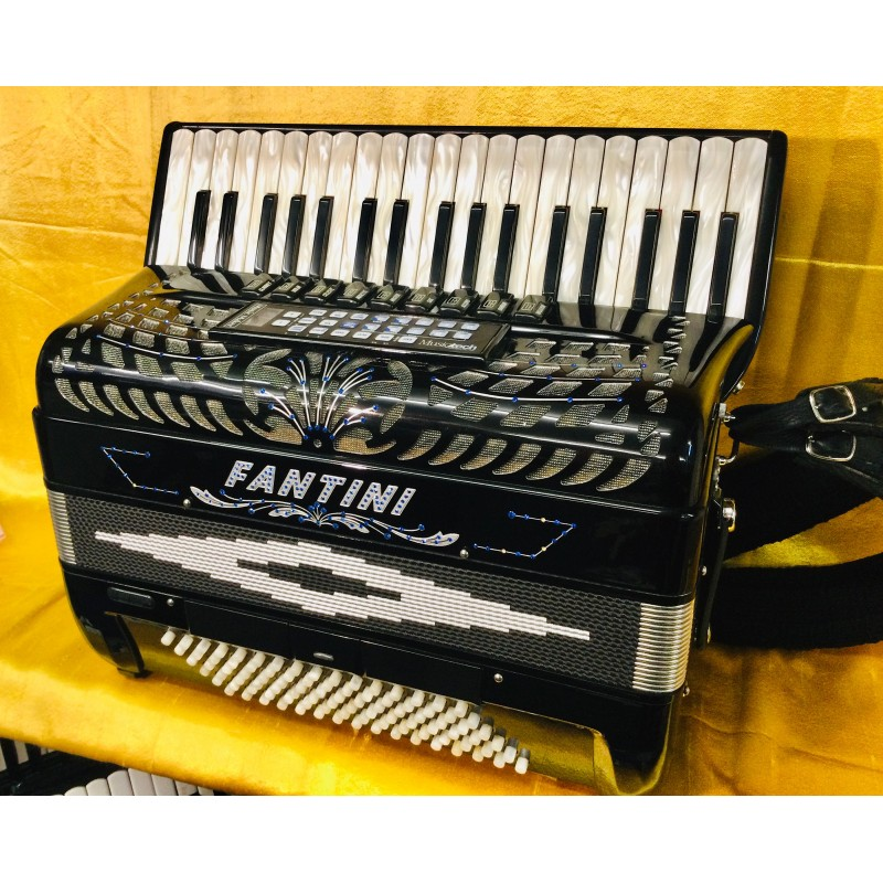 Fantini 96 Bass midi 4 voice Accordion 37 Key With Name decor Used