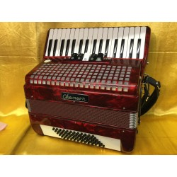 Chanson 34 key 72 Bass and 3 voice Red Used