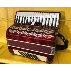 Parrot 34 key 72 bass 3 voice Piano Accordion Red Used