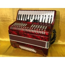 Boorinwood 34 key 48 bass 3 voice Piano Accordion Red Used
