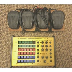 WEM Midi Partner MK II Sound Module Expander and 4 Pedals Used