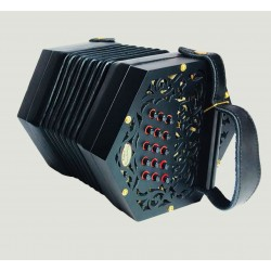 New Pheniox Anglo Concertina G/C 30 button metal ends