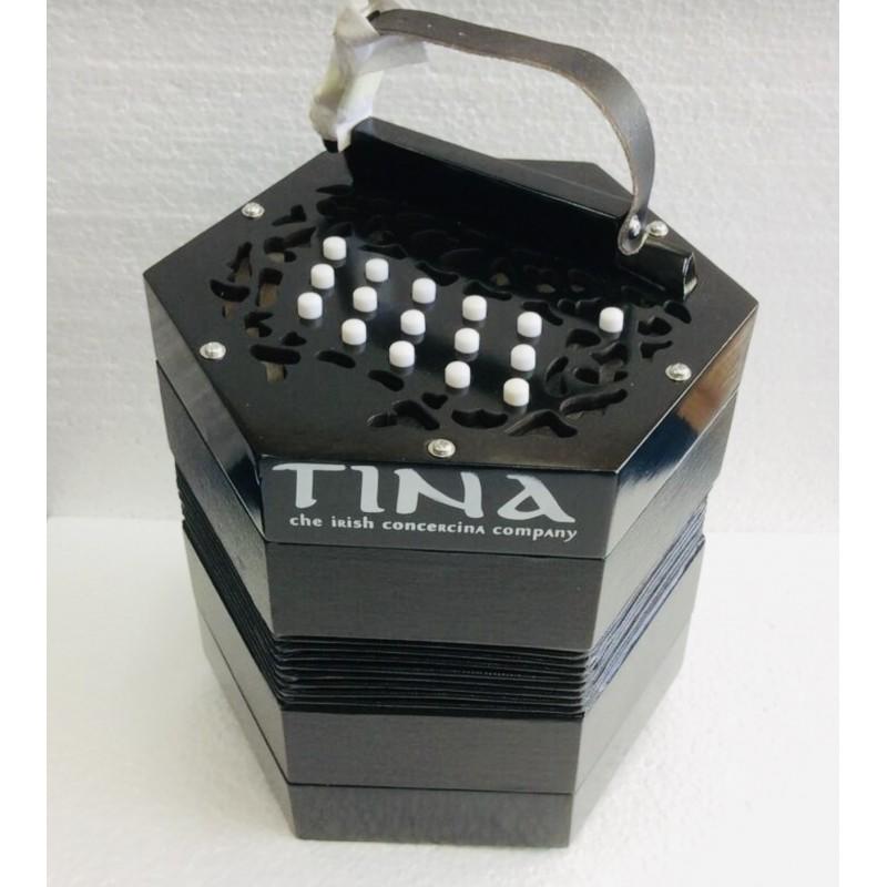 Tina Anglo Concertina G/C 30 button Wooden ends