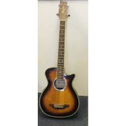 Crafter small body Semi Acoustic Guitar Sunburst