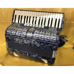 Piermaria 96 Bass 3 voice Accordion 37 Key Blue Used
