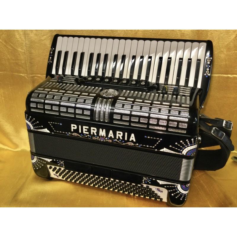 Piermaria Compact Midi 3 voice midi Accordion 41/120 bass Full decor Used