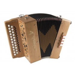 New Saltarelle B/C Irish Bouebe Wooden 2 voice 2 Row Irish dry tuned Accordion 23/8