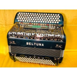Beltuna 5 Row Midi C Scale Chromatic French Style Accordion 92/120 bass Used
