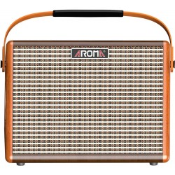 25W Portable Electric Guitar Amplifier Aroma Bluetooth & Rechargeable Battery– Brown